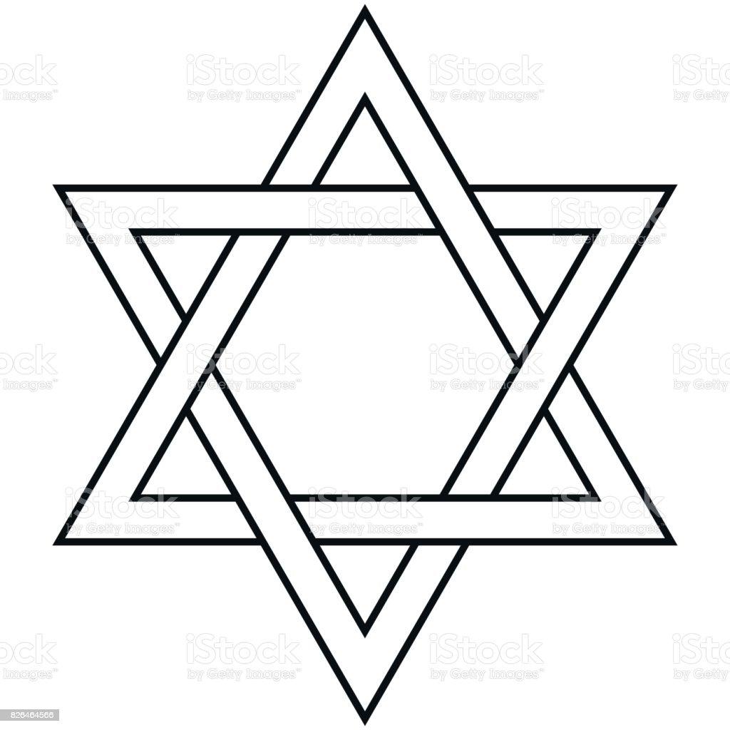 Line Drawing Jerusalem : Star of david icon vector symbol israel judaism stock