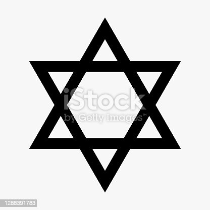 istock Star of David. Icon Vector. Vector illustration 1288391783