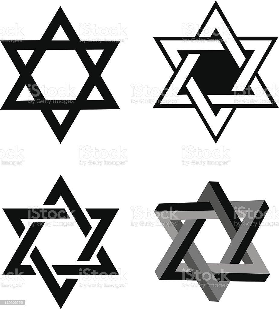 Star of David, Judaism Religion royalty-free stock vector art