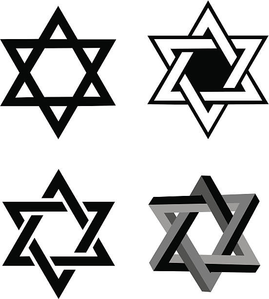 Star of David, Judaism Religion Star of David. Various Star of David illustrations. Grouped for easy edit. Color alterations a snap. Check out my