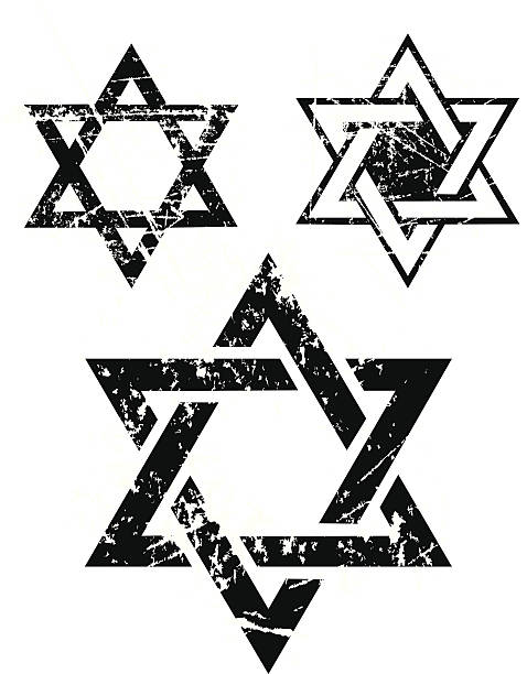 Star of David - Judaism Religion Weathered illustrations of the Star of David for the Jewish faith. Layered, use with or without the grunge.  Check out my