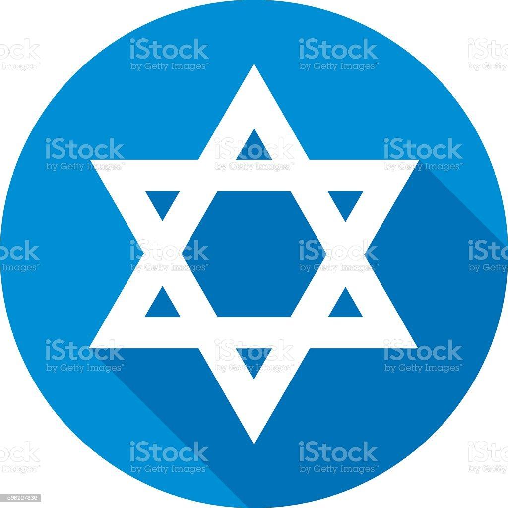 Star Of David Round Icon ilustração de star of david round icon e mais banco de imagens de azul royalty-free