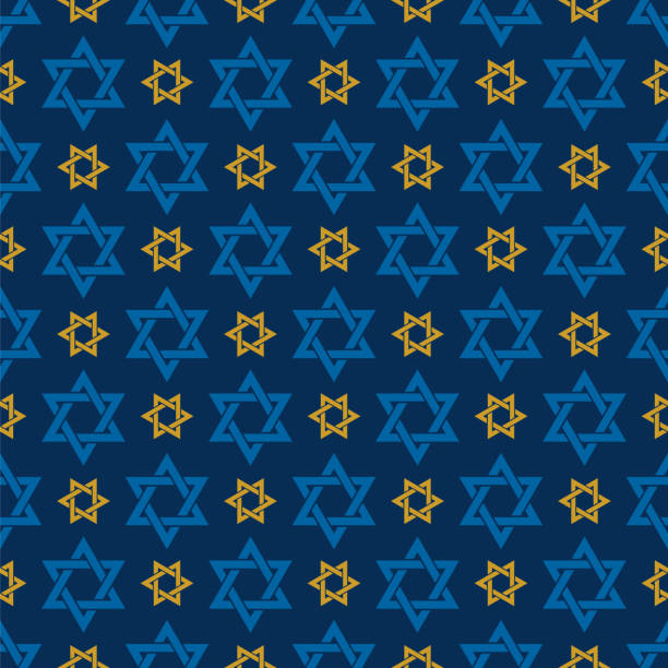 Star of David seamless pattern Star of David seamless pattern - Illustration star of david stock illustrations