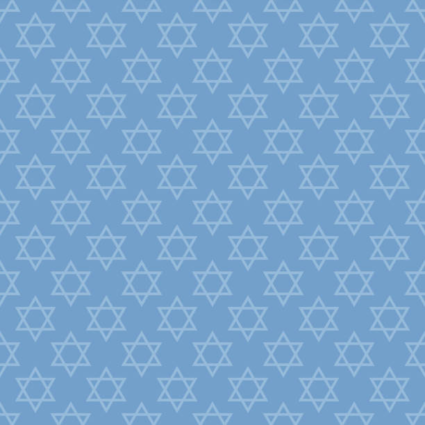Star of David Seamless Pattern Light blue Star of David design made for Hanukkah star of david stock illustrations