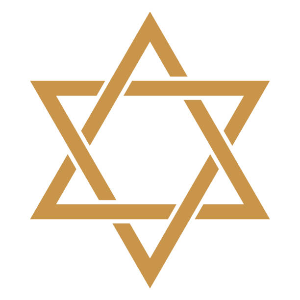 Star of David Gold Star of David design star of david stock illustrations