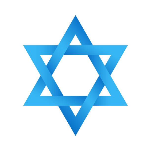 Star of David Magen David symbol. Gradient. Vector EPS 10 star of david stock illustrations
