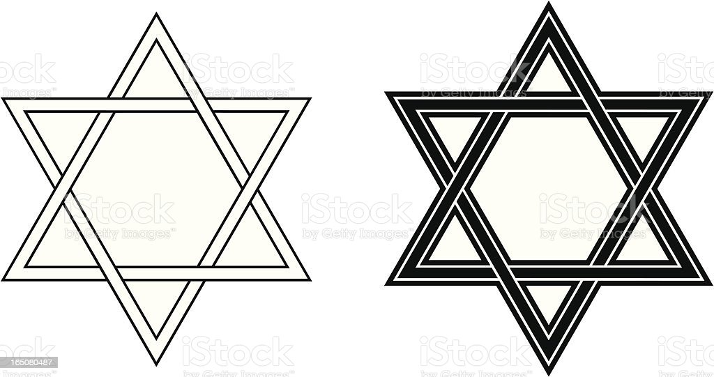 star of david stock vector art more images of antique 165080487 rh istockphoto com Black White Circle Star Clip Art Black White Circle Star Clip Art