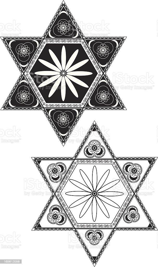 Star of David royalty-free stock vector art