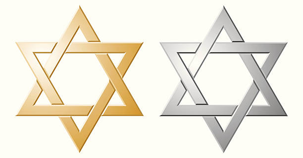 Star of David A Star of David forged from gold and silver. The Zip file contains the image in Illustrator CS4 format, plus a separate large JPEG of the star in each colour. star of david stock illustrations