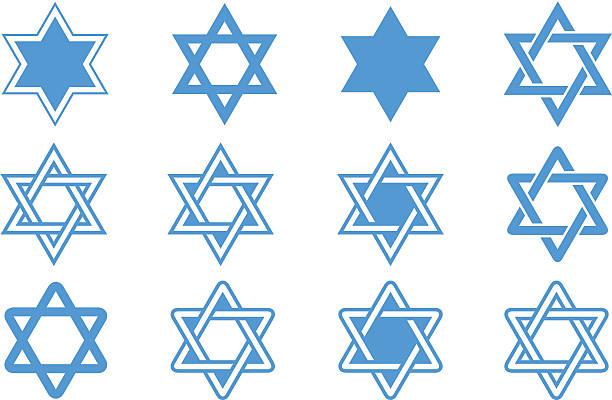 gwiazda dawida - judaizm stock illustrations