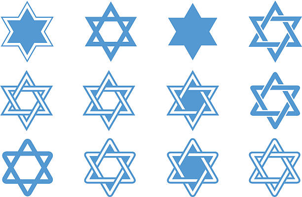 Star of david Star of david judaism stock illustrations