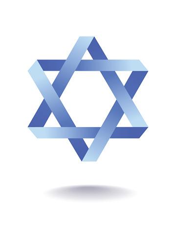 Star of david. Vector Illustration.Jewish simbol.
