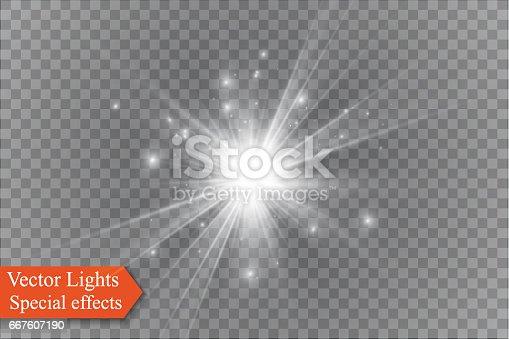 star on a transparent background,light effect,vector illustration. burst with sparkles.Sun.Special effect isolated on transparent background.spark