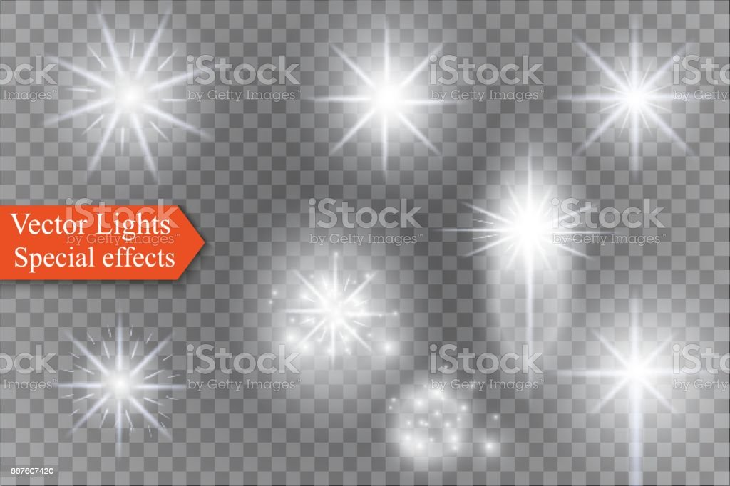 star on a transparent background,light effect,vector illustration. burst with sparkles vector art illustration