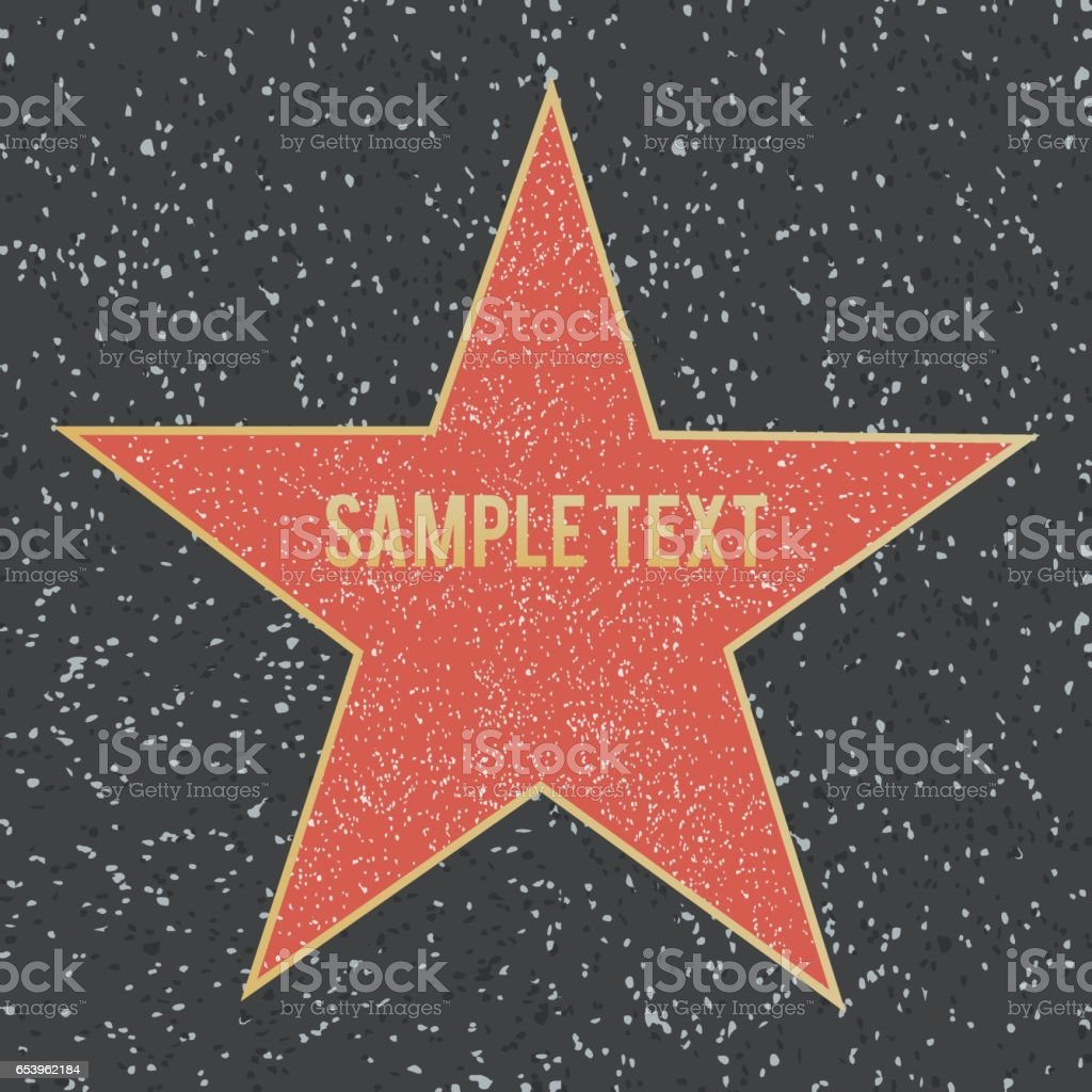 Star on granite floor. Vector illustration. royalty-free star on granite floor vector illustration stock illustration - download image now