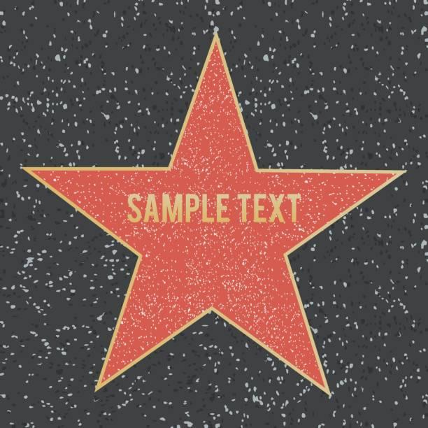 Star on granite floor. Vector illustration. Star on granite floor. Vector illustration fame stock illustrations