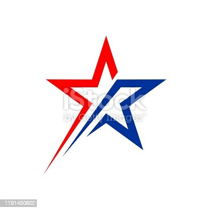 Star Patriotic Logo Vector Template Illustration Design. Vector EPS 10.