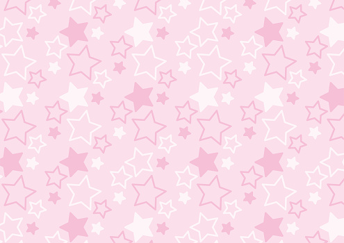 Star pattern of pink