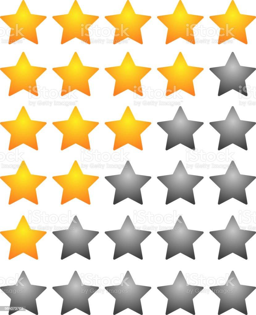 star rating bar set - Royalty-free Abstract stock vector