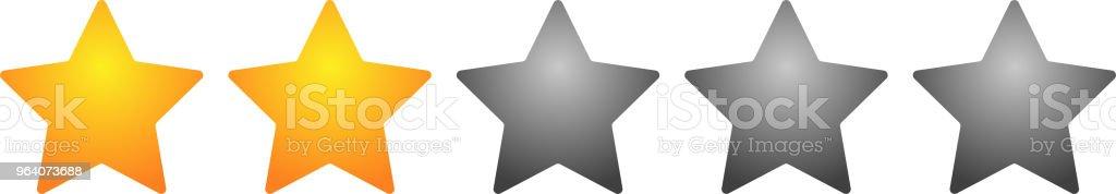 2 star rating bar - Royalty-free Abstract stock vector