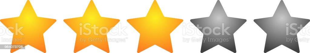 3 star rating bar - Royalty-free Abstract stock vector