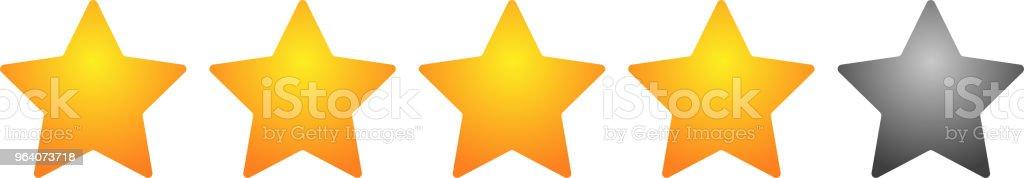 4 star rating bar - Royalty-free Abstract stock vector