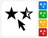 Star Rating Icon Flat Graphic Design