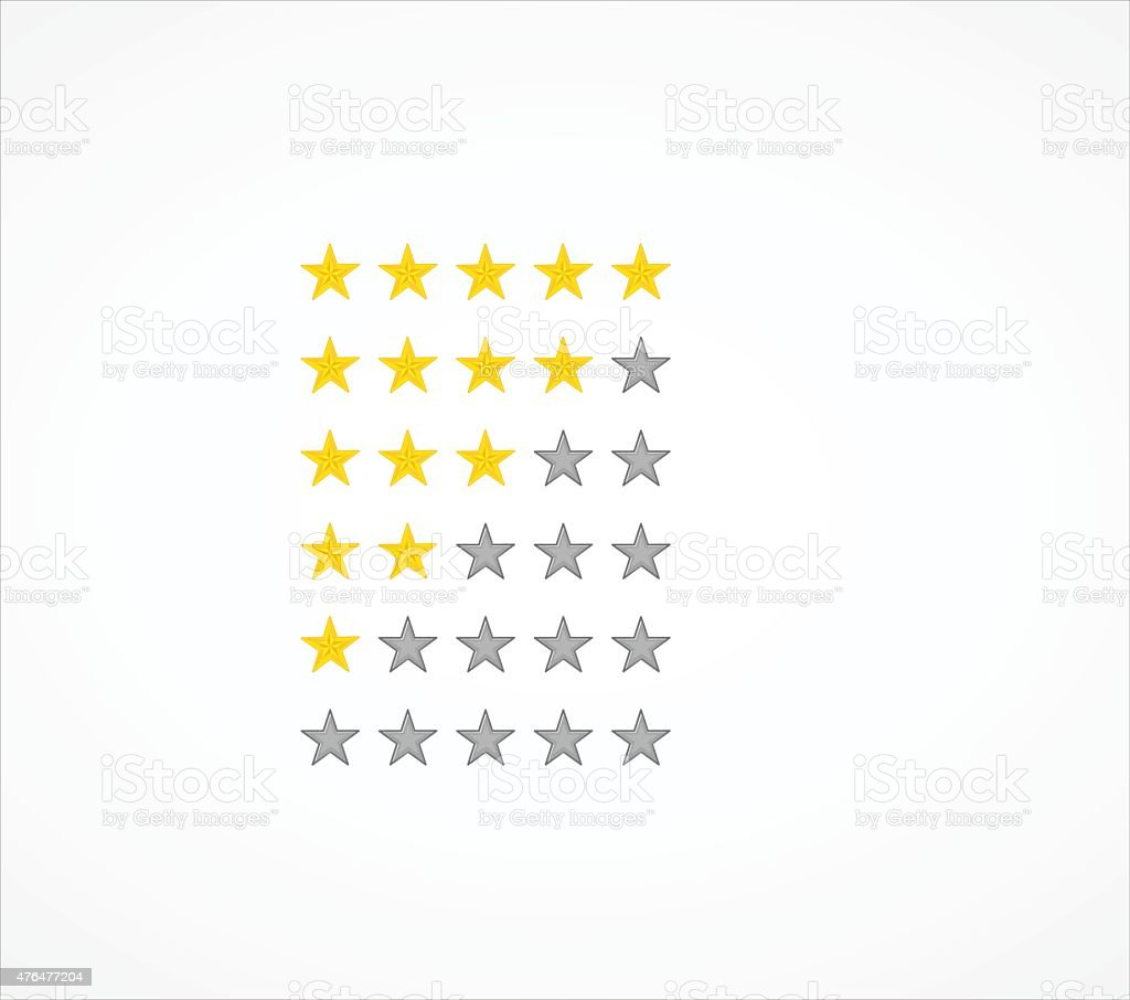 Star ratings vector art illustration