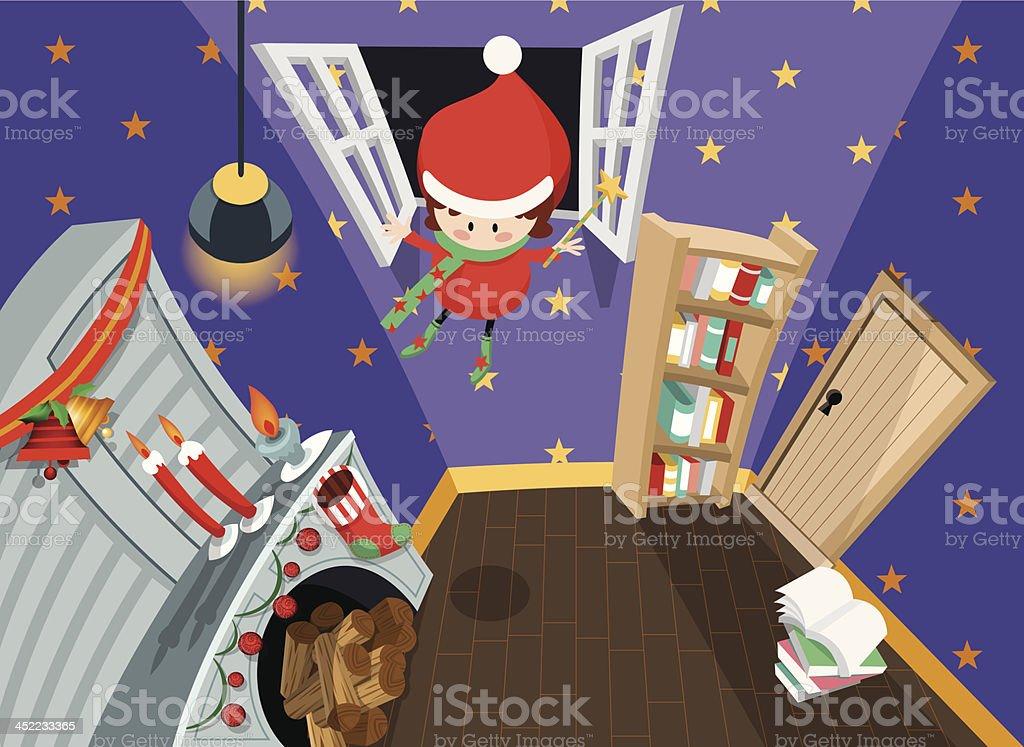 Star Santa royalty-free stock vector art