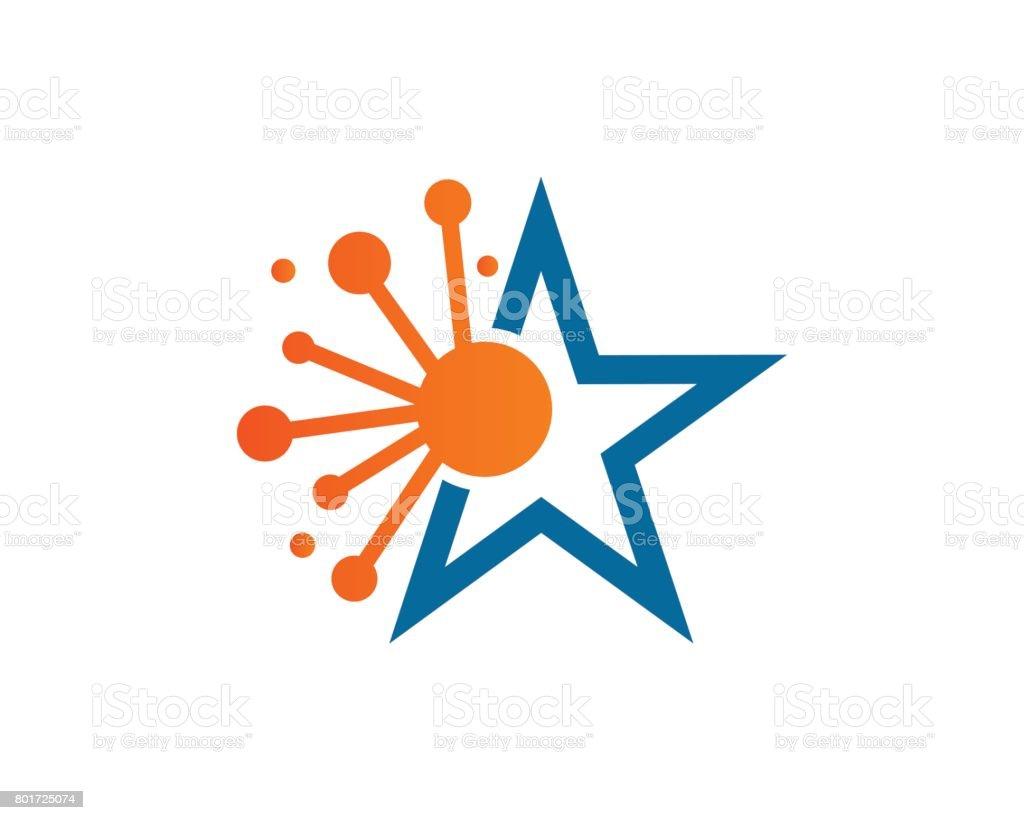Star Science Symbol Template Design Vector Emblem Design Concept