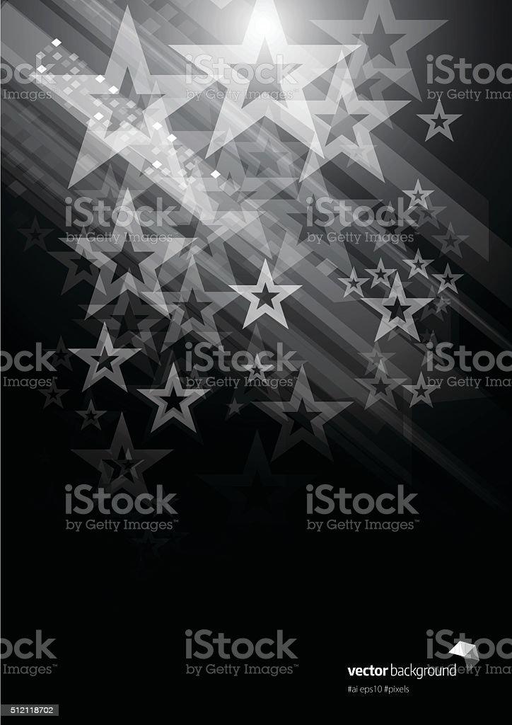 Star shape abstract background vector art illustration