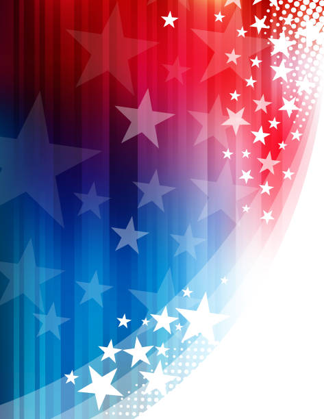 Star shape abstract background Vector of star shape abstract with blue and red color background. EPS Ai 10 file format. presidential candidate stock illustrations