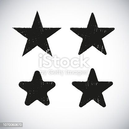 Star shape grunge label design on gradient background