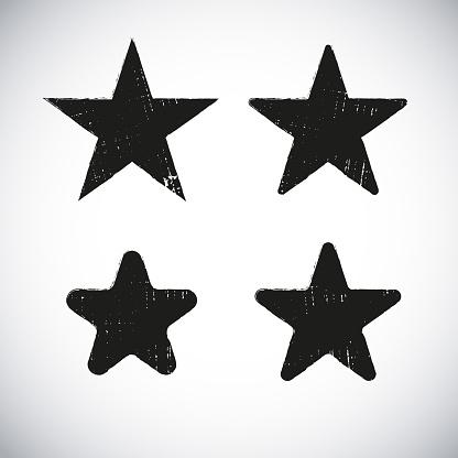 Star shape grunge label design