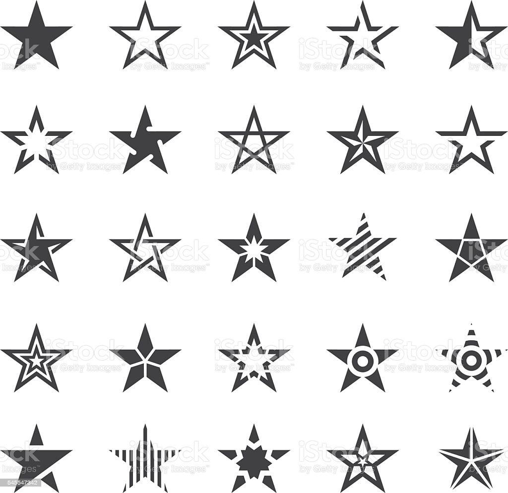 Star Shape Icons - Illustration - 로열티 프리 5 벡터 아트
