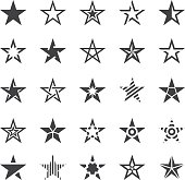 Star Shape Icons - Illustration