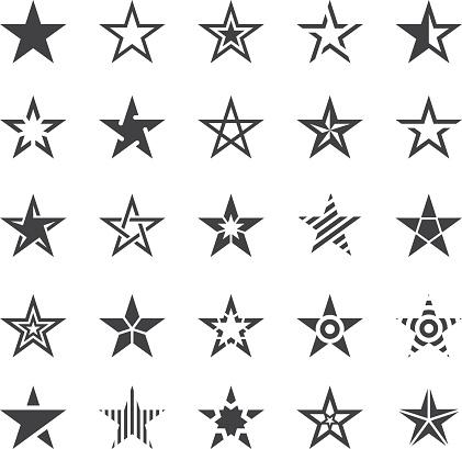 Star Shape Icons Illustration 5에 대한 스톡 벡터 아트 및 기타 이미지