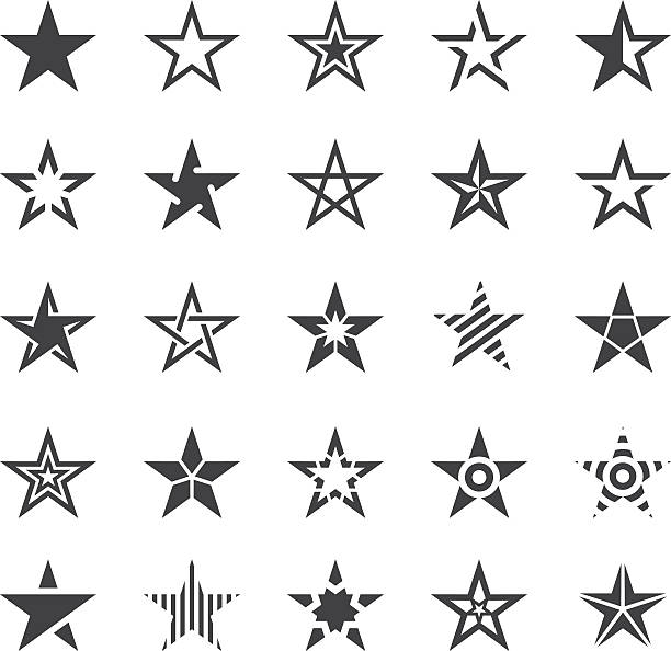 Star Shape Icons - Illustration - ilustración de arte vectorial