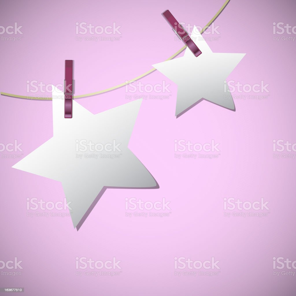 Star shape of note papers royalty-free stock vector art