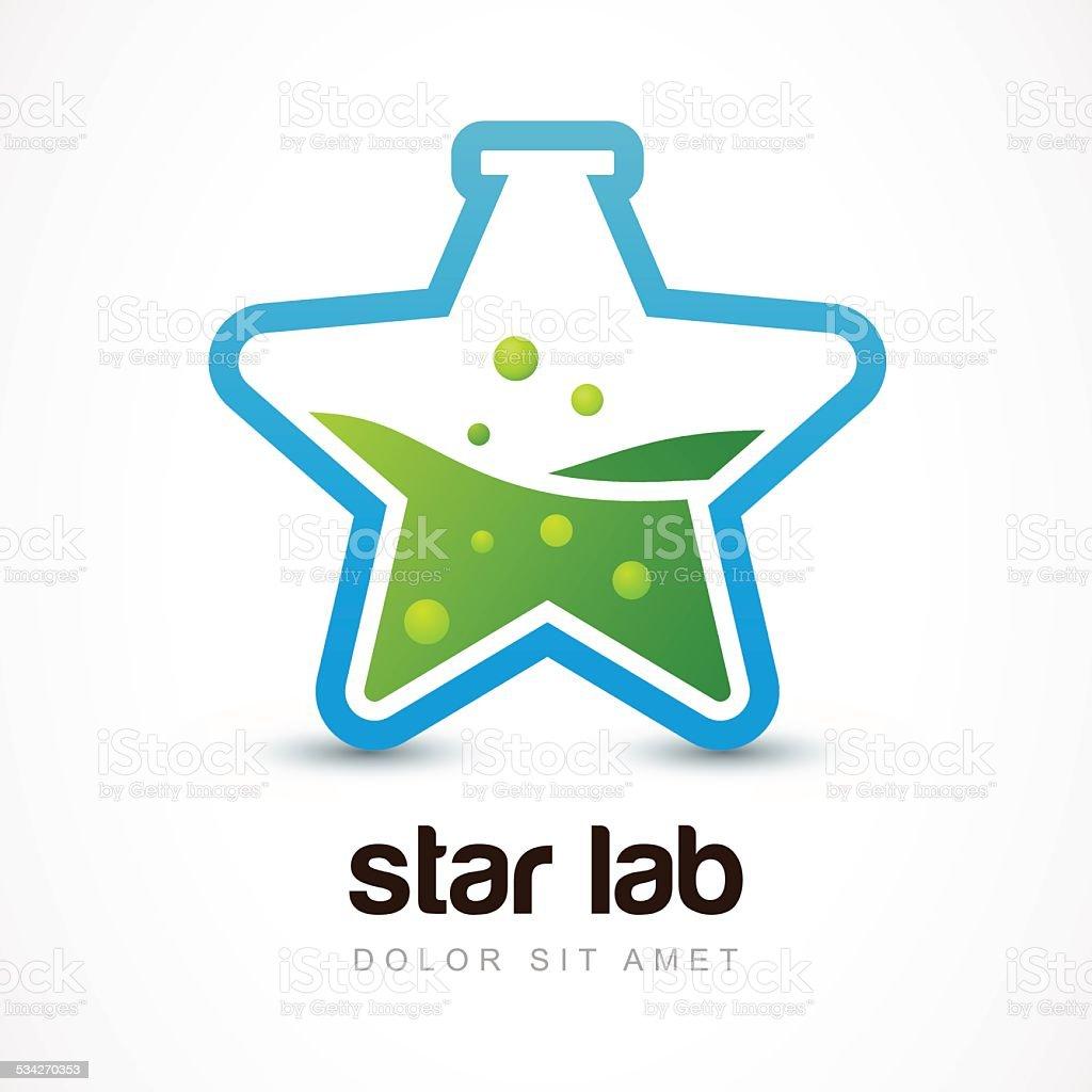 Ilustración de Forma De Estrella Icono Matraz De Laboratorio Vector ...