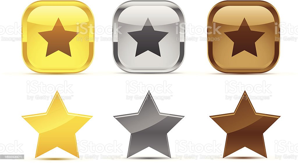 star shapes royalty-free stock vector art