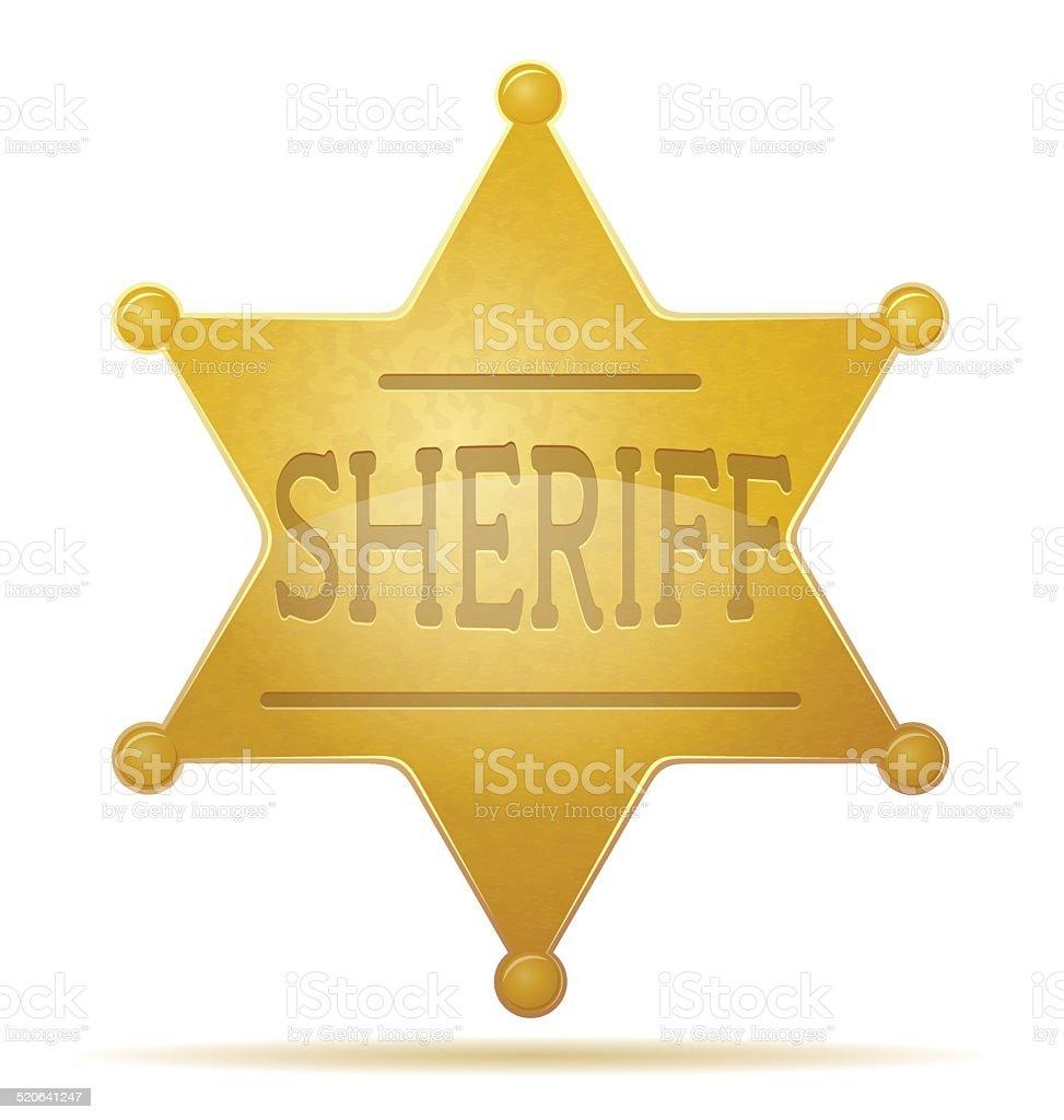 star sheriff vector illustration vector art illustration