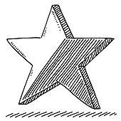 Star Shiny Symbol Drawing