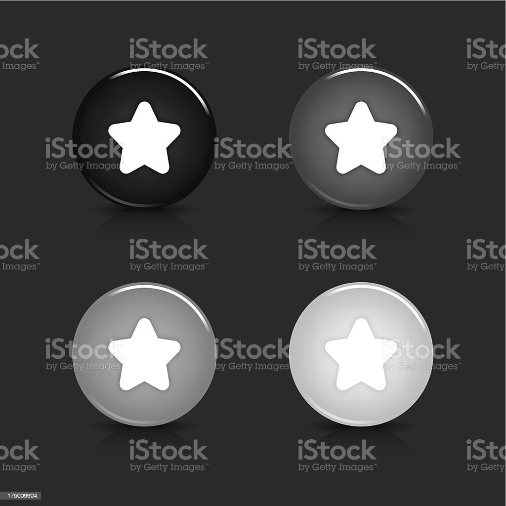 Star sign circle icon gray black web internet button royalty-free stock vector art