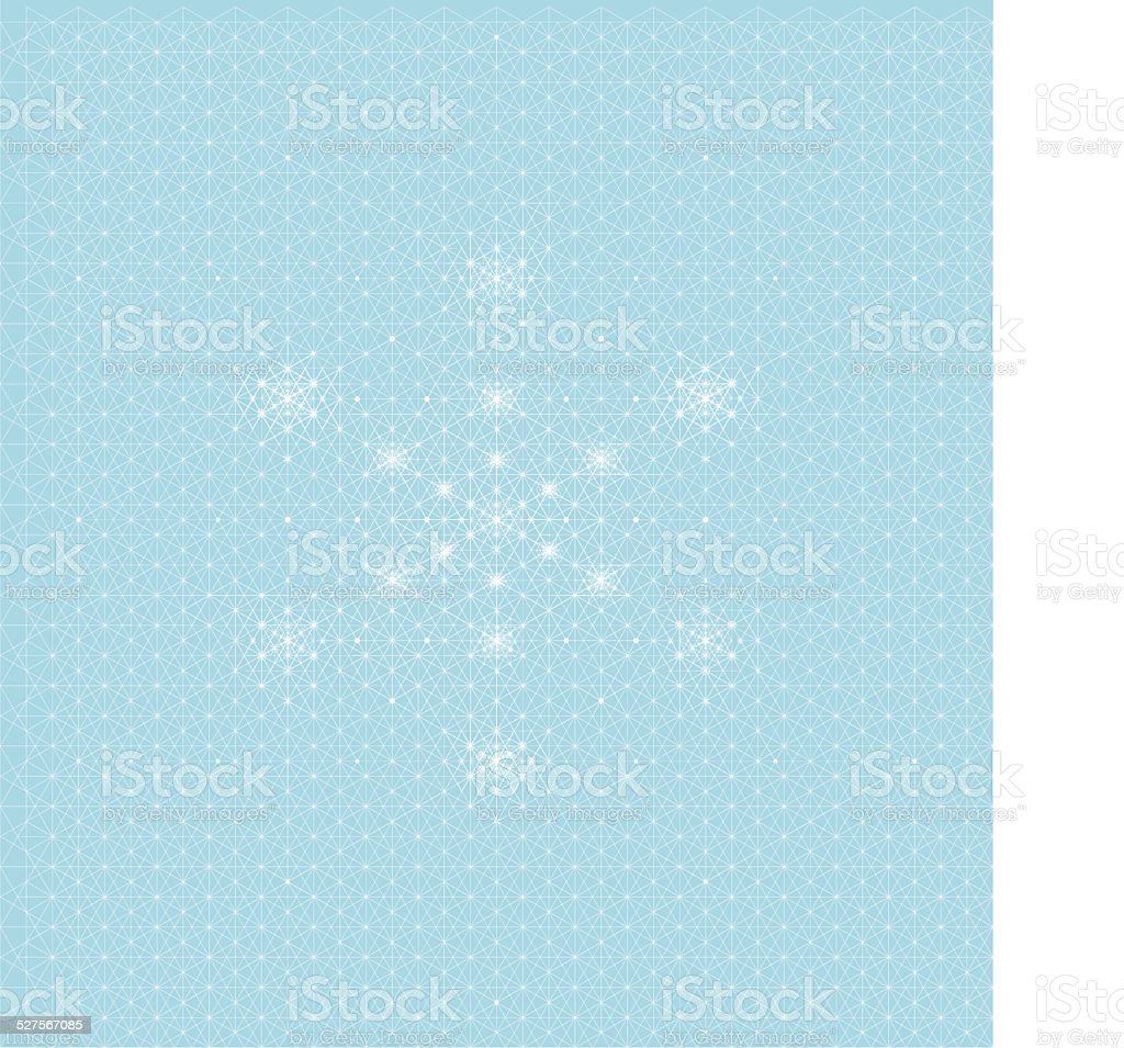 Star Snowflake Pattern vector art illustration