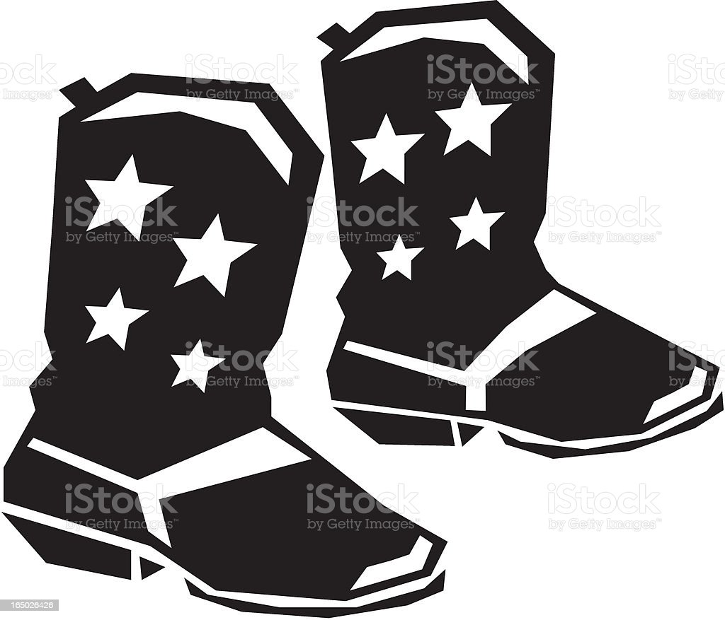 Star Spangled Boots royalty-free stock vector art
