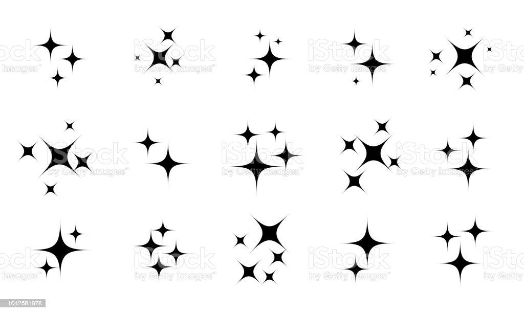 Ilustracion De Estrellas Brillantes O Centelleantes De Dibujos