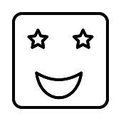 star struck   face  emoticon