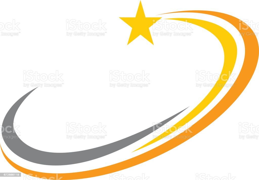 star swoosh stock vector art more images of celebration 672686118 rh istockphoto com free swoosh vector art baseball swoosh vector free