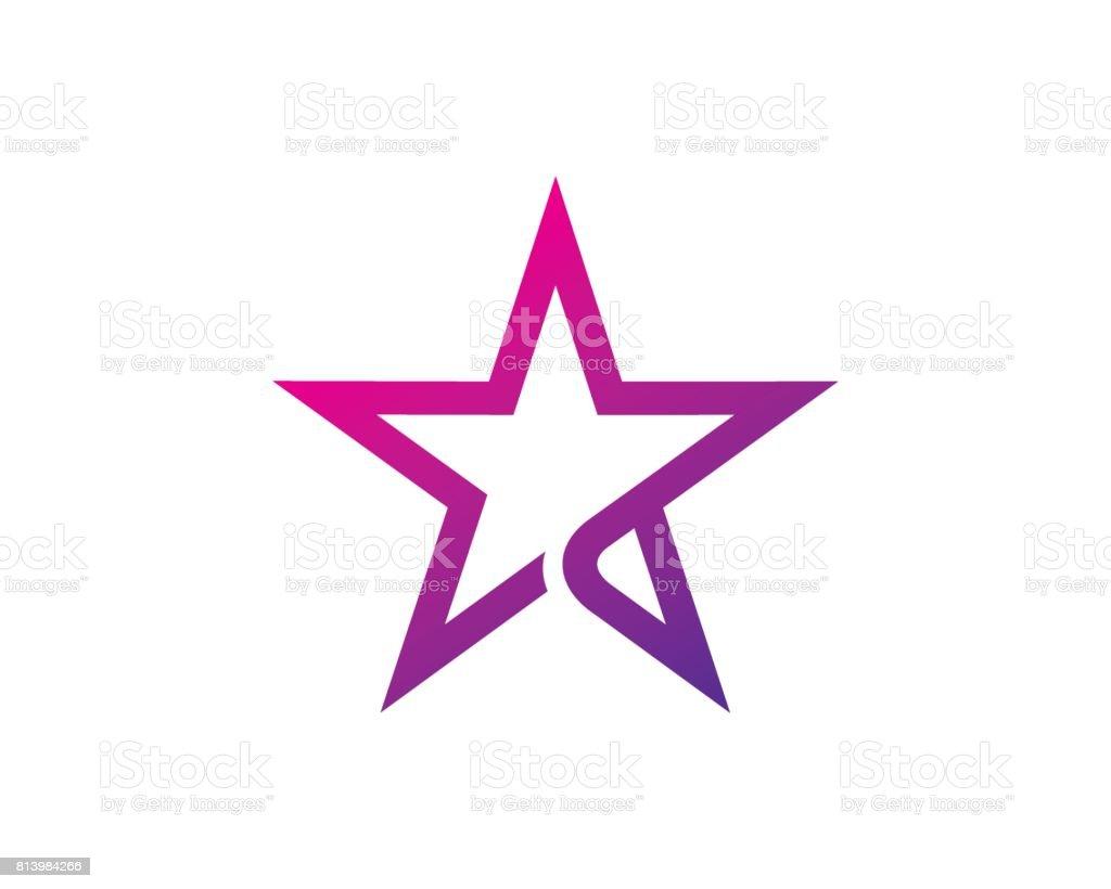 Star Symbol Template Design Vector, Emblem, Design Concept, Creative Symbol, Icon vector art illustration